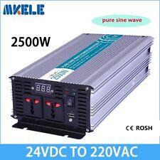2500W DC24V to AC220V Pure Sine Wave Solar Power Inverter Off Grid LED Display