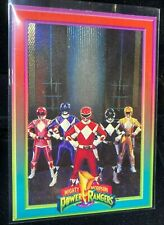 "1994 POWER RANGERS SERIES 1 POWER FOIL CARD #7 ""THE RANGERS"" COLLECT-A-CARD MINT"
