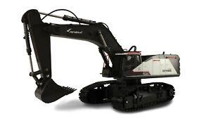 Ferngesteuerter Bagger Raupenbagger ACV730 mit Metallschaufel schwarz/weiß 1:14