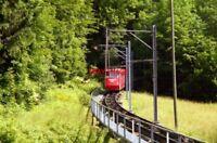 PHOTO  SWITZERLAND BRAUNWALD 1995 TRAM BRAUNWALD BAHN 2 V2