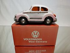 JAPAN TIN TOYS BLECH VW VOLKSWAGEN BEETLE - PINK  RARE - FRICTION - GOOD IN BOX