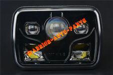 "7x6"" LED Projector Headlight Sealed Beam Headlamp DOT Approved Black (1 Lamp)"