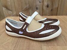 Womens Josef Seibel Brown & White Leather Mary Jane Flat Shoes Pumps- UK 6 EU 39