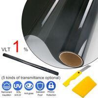 Window Tint Film 1%(5%15%25%35%) VLT Black Roll 76cm X 6m Car Auto House Home AU