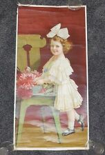 "Antique Yard Long 1910 ""Sweetheart"" Pretty Blond Edwardian Girl Child Bow Hair"