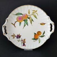 Vintage Royal Worcester Arden Gold Sandwich Bread Plate Cake Plate c1970s  :RW2