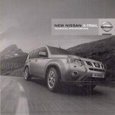 Nissan X-Trail Specification 2010-11 UK Market Brochure 2.0TD Acenta Tekna