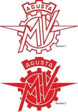 MV AGUSTA Logo Sticker Aufkleber Set 2 Stück 2 Varianten Farbwahl