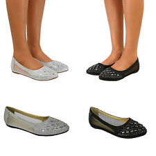 Flat (less than 0.5') Synthetic Ballerinas for Women