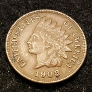 1908 - US Indian Head Cent
