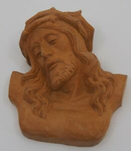 Wall hanging of Christ carved wood figure signed by Richard Reiser