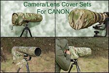 For Canon lens range SETS  Waterproof Multi Camo Camera Lens Cover & CAP