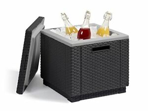 California Ice Cube Outdoor Cooler Allibert by Keter , Graphite, 42 x 42 x 41 cm