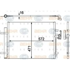 ORIGINAL HELLA Klimaanlage Kondensator Ford Galaxy Bj.06- 8FC351303-201
