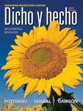 Dicho y Hecho (2012, Hardcover) 9th edition