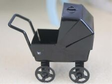 Dolls Small Nursery Pram, Dolls House Miniatures, 1.12 Scale Buggy