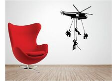 ARMY TROOPS HELICOPTER wall art quote sticker vinyl KIDS BEDROOM SOLDIER