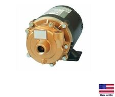 "CENTRIFUGAL PUMP - Cast Bronze 1/3 Hp - 115/230V - 3/4"" & 1/2"" Ports  1,980 GPH"
