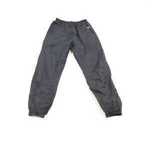 Vintage 90s Reebok Mens Medium Classic Logo Lined Nylon Joggers Pants Black