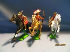 Britains Ltd 1971 Deetail 3 Native American Indians on Horses Complete