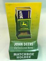 NEW JOHN DEERE TRACTOR METAL MATCHBOX HOLDER BOX In Box FREE SHIPPING