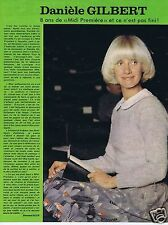 Coupure de presse Clipping 1977 Danièle Gilbert  (1 page)
