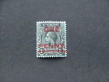 St Vincent KGV 1915 1d on 1/- black on green 'ONE' Double SG121b MM