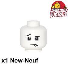 Lego - 1x minifig tête head Spooky Boy blanc/white 3626cpb1590 NEUF