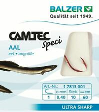 Camtec Spezi Aal rot 60cm Vorfachlänge 10Stück/SP versch. Grö�Ÿen