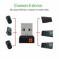 Genuine Logitech Unifying Receiver Wireless Mouse Keyboard USB Dongle 6 Devices