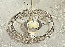 CHANDELIER LIGHT PENDANT 1-TIER FRAME ANTIQUE BRASS NO CRYSTALS DROPLETS DROPS