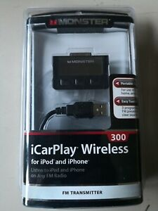 NEW Monster iCarPlay 300 FM Radio Transmitter Charger iPod, iPhone 3G/3GS, 4/4S