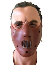 HANNIBAL SILENCE LATEX MASK HALLOWEEN LAMBS LECTOR MUZZLE COSTUME