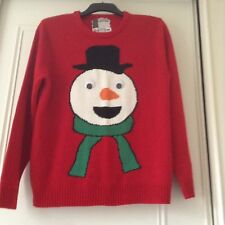Vintage Christmas Ugly red Jumper Snowman XXLarge