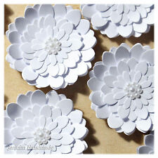 Libro Blanco 6Pcs adornos de flores, álbumes de recortes, 38 mm