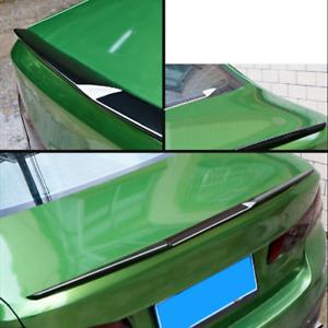 Black 120cm Car Rear Spoiler Wing Rubber Lip Tail Trunk Roof Bonnet Trim Sticker