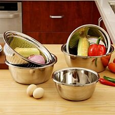 Orange Life Stainless Steel Mixing Bowls Set Stainless Steel Colandar