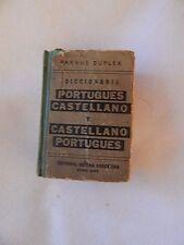 Vintage Diccionario Portugues Castellano y Castellano Portugues-Copyright 1952