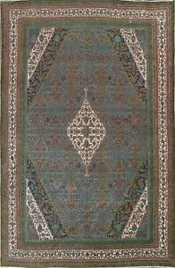 Antique Hamedan Overdyed Hand-knotted Area Rug Evenly Low Pile Oriental 10x14 ft