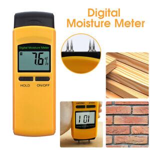 4 Pin LCD Digital Moisture Detector Damp Meter Wood Brick Screed Caravan Tester