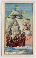 Sailboat 'Santa Maria' Christopher Columbus Flagship America  75+ Y/O Ad Card