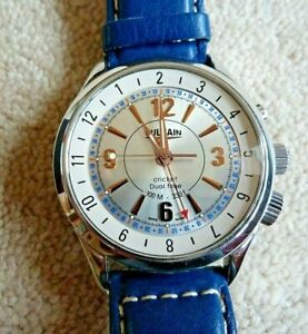 Vulcain Cricket Dual Time alarm watch in excellent condition.