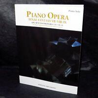 FINAL FANTASY OPERA MUSIC VII VIII IX GAME PIANO SCORE BOOK NEW