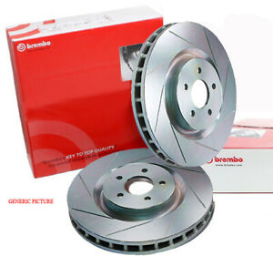 GENUINE BREMBO FRONT SLOTTED BRAKE ROTORS TERRITORY FALCON BF FG 322mm XR6 Turbo