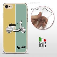iPhone 7 TPU CASE COVER PROTETTIVA GEL TRASPARENTE VINTAGE Vespa Retro