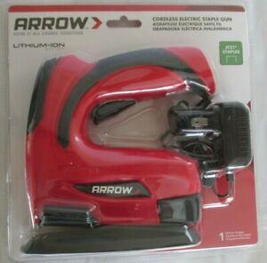 ARROW Cordless Rechargeable Electric Staple Gun E21 w/ Detachable Base - NEW!