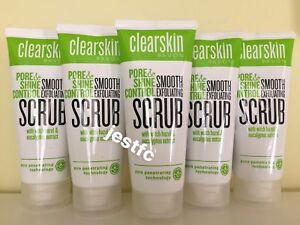 Avon CLEARSKIN Pore & Shine Control SMOOTH EXFOLIATING SCRUB x5 Lots STOCK UP!!