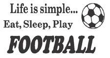 fun eat sleep play football boys bedroom vinyl graphic wall art car sticker door