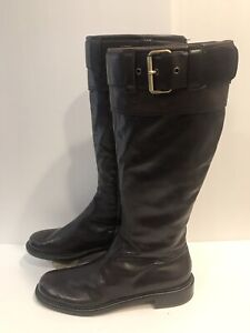 Moschino Boots CHEAPANDCHIC WOMEN Brown Leather Boots Size 10M