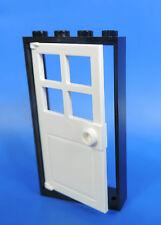 Lego porte / 1x4x6 CADRE NOIR / avec türeinsatz Blanc